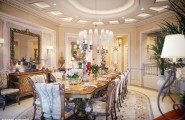 Extravagant Villa Design With Antique Style : Fabulous Dining Room Antique Dining Table And Chairs Luxury Villa In Qatar