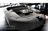 Gorgeous Interior Ideas With Big Sofas : Fabulous Gray Modern Style Big Sofas With Coffee Table