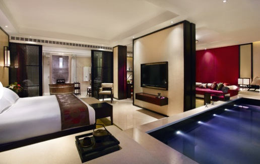 Elegant Hotel With Pool In Room Design Ideas: Fabulous Hotel With Pool In Room Design With Small Minimalist Decoration Ideas ~ stevenwardhair.com Hotels & Resorts Inspiration