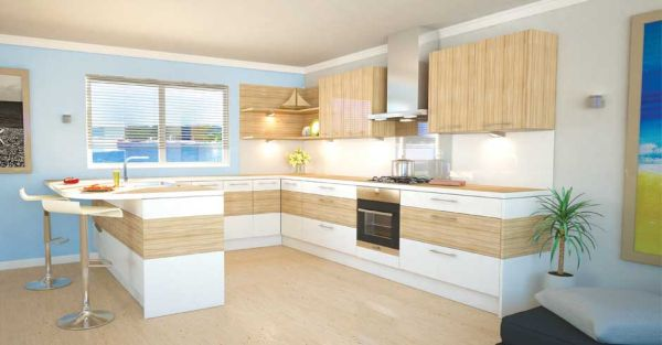 Wonderful Modern Kitchen Interior Designs In Neutral Shades : Fabulous Kitchen Employs Neutral Shades
