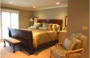 Incredible Master Suite Designs Provide Ideal Space With Nice View : Fabulous Master Suite Designs Floral Arm Chair Wooden Divan