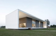 Minimalist Home Architecture Designs In Spain : Fabulous Minimalist Home Architecture Designs Italian Style White Brown Exterior
