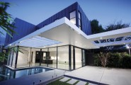 Fantastic Modern Residence Design Represents Luxurious Taste : Fabulous Modern Villa Design Exterior With Concrete Pathway And Small Swimming Pool