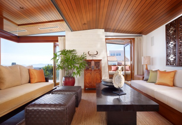 Extraordinary Wood Living Room Reflecting Natural And Warm Character: Fabulous Wood Living Room Ceiling Brown Sofa Coffee Table Design ~ stevenwardhair.com Living Room Design Inspiration