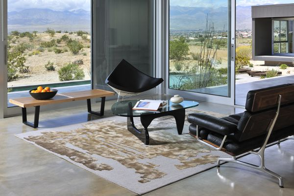 Long Term Coconut Chair: The Comeback Of George Nelson Artworks: Fancy Black Coconut Chair At Modern Living Room With View