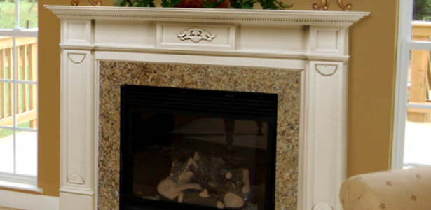 Fireplace Mantel Kits For Your House : Fancy Fireplace Mantel Kits Design Indoor Plant Horse Painting