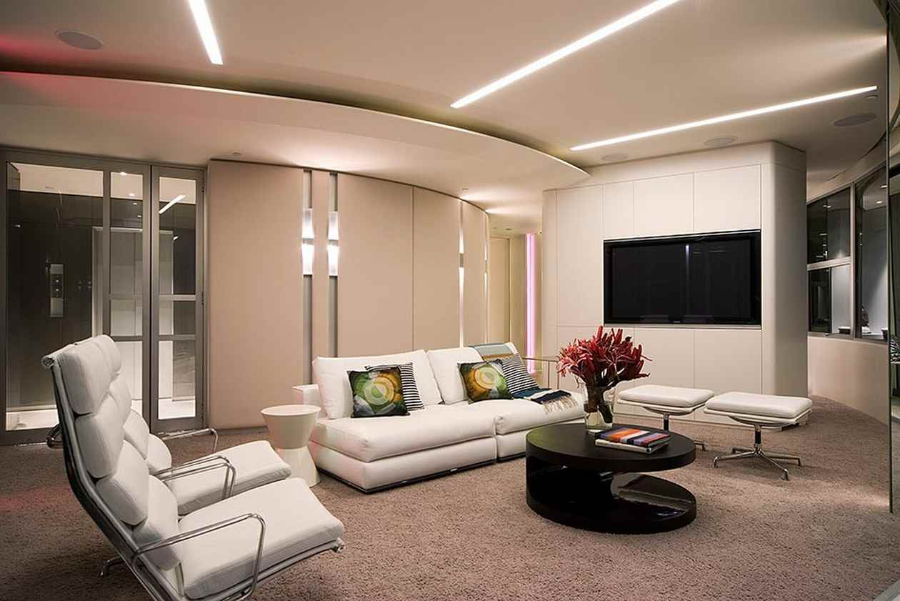 Having Good Day In Beautiful Apartment Interior Designs: Fantastic Apartment Interior Design With Modern White Furniture Design