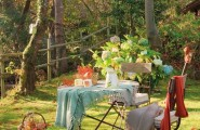 Chic Fairy Tale Home In Spain Evoke The Old Childish Memories : Fantastic Have A Lovely Cup Of Tea Under Some Green Shade