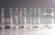 Gorgeous Drinking Glasses Decoration For Interior Design : Fantastic Recycled Bottle Tumblers With Glass Material For Inspiration