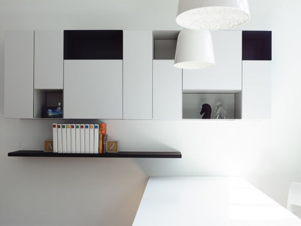 Modern Contemporary Home Renovation With Minterior Furniture: Fantastic Sleek Shelves In Pristine White Interior Finished With Modern Design Ideas ~ stevenwardhair.com Architecture Inspiration