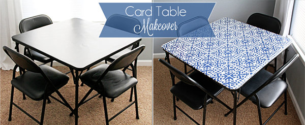 Creative Furniture Modifying Interior Design Perfectly : Fascinating Card Table Makeover Ideas A Square Table And Leather Chairs