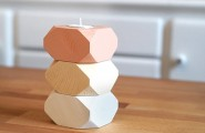 Trendy Wooden Decor In Geometrical Shape : Fascinating Design Geometric Wooden Candle Holders On Modern Accesories Decor