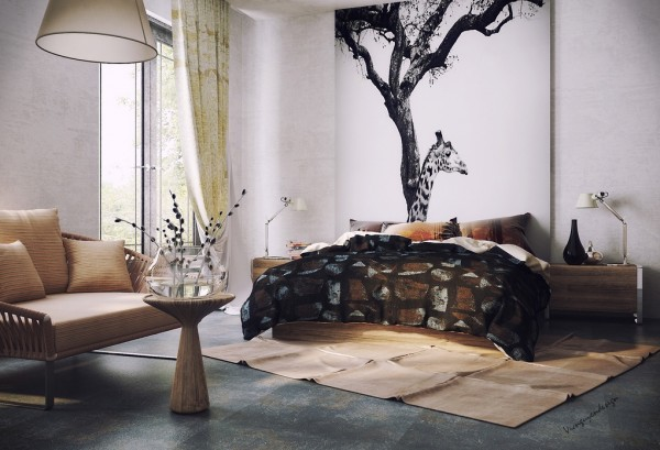 Fascinating Interior Design With Blends Of Monochrome Colors And Natural Elements: Fascinating Enduring Inspiration From Vic Nguyen Bedroom Design With Sitting Area ~ stevenwardhair.com Interior Design Inspiration