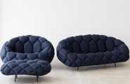 Blue Sofas Selection For Minimalist Living Room : Fashionable Blue Sofas