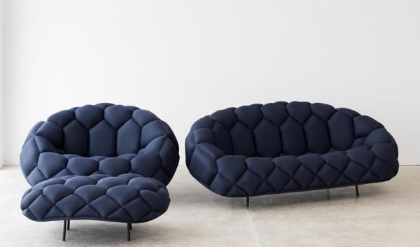 Blue Sofas Selection For Minimalist Living Room: Fashionable Blue Sofas