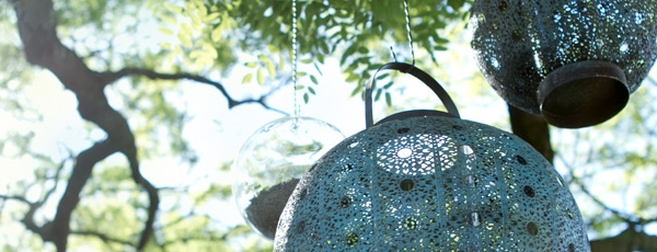 Designing Outdoor Space To Be A Place To Relax : Filigree Lanterns For The Outdoors