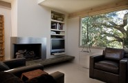 Well Groomed Corner Fireplace Ideas : Fireplace With A Metal Border