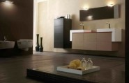 Floating Cabinet And Vanity Set For Every Home : Floating Cabinet With Dual Sink Design