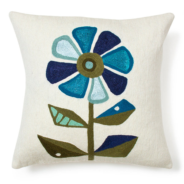 Striking Floral Patterns (12 Ideas): Floral Pillow From Jonathan Adler