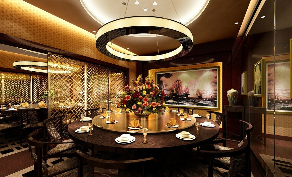 Aesthetic Asian Restaurant Interior Design With Warm Circumstance : Free Restaurant Interior Design