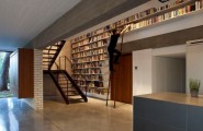 Wall Bookshelf With A Unique Touch : Full Wall Height Bookshelf