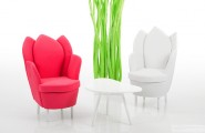 Astonishing Contemporary Chair Resembling The Blooming Flower : Funky Furniture Bruehl Chairs