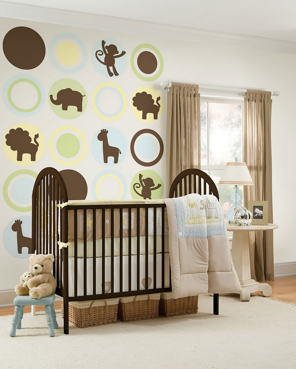 Baby Room Ideas: Welcome To Our Family : Funny Baby Room Ideas Rattan Baskets Teddy Bear Doll