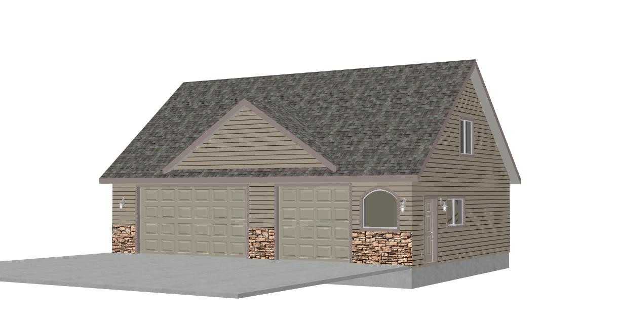 Detached Garage Plans For A Big Family: G424 Plans Thomas Model Detached Garage With Bonus Room