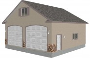 Detached Garage Plans For A Big Family : G433 Herrold Model Detached Garage