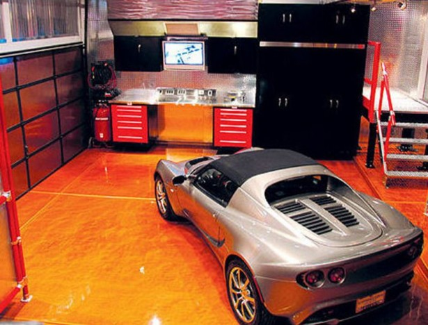 Best Garage Colors Design For Rustic Home Living: Garage Interior Design With Sport Car Awesome Garage Colors Design ~ stevenwardhair.com Storages Inspiration