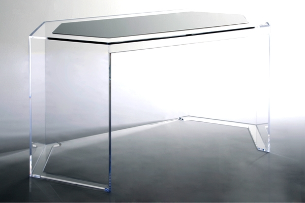 Well Dressed Art Deco Furniture (20 Ideas) : Geometric Acrylic Desk