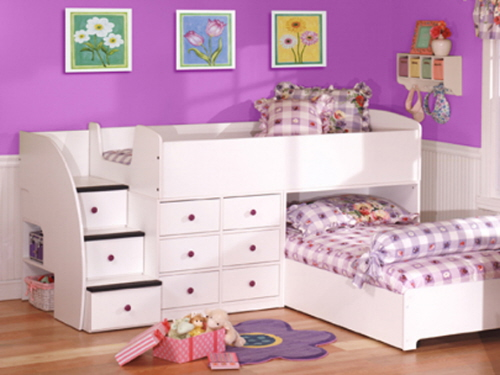 Children's Bunk Beds Safety Rules: Girls Bunk Bed Furniture Ideas