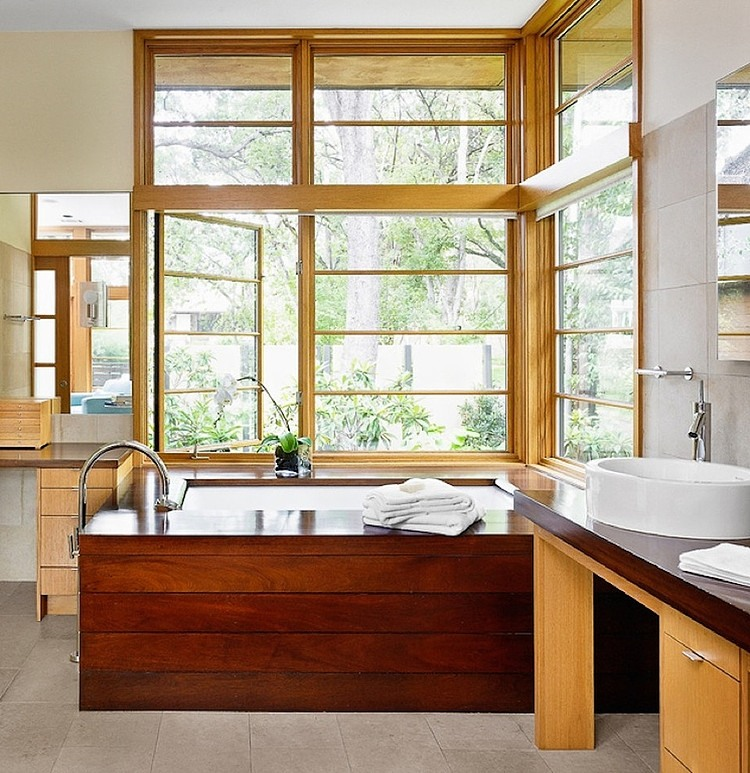 Adorable Asian Architectural Residence So Traditional With Wood Accent : Glamor Tarrytown Residence Master Bath Designed By Webber Studio Architects