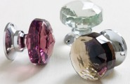 Shabby Chic Door Knobs For Your True Uniqueness : Glass Chrome Door Knobs