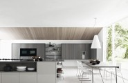 Design Your Own Kitchen Using Unique Colors And Furniture : Gloss Ash White Modern Kitchen