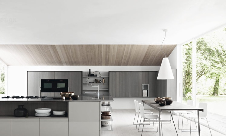 Contemporary Kitchens With Exceptional Ideas : Gloss Ash White Modern Kitchen