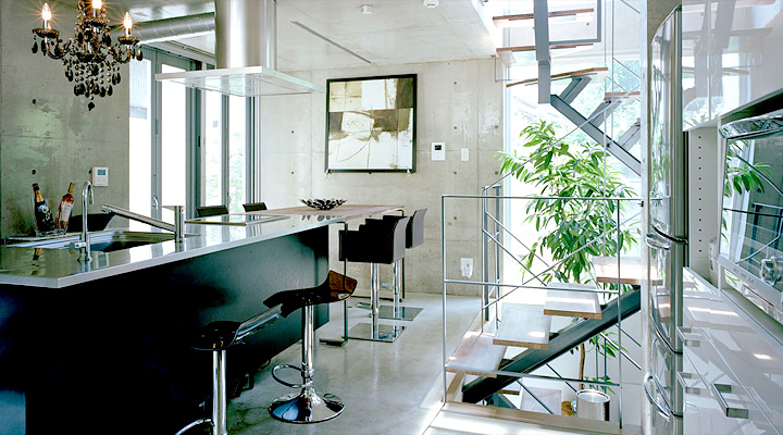 Contemporary Japanese Kitchen Design : Glossy Kitchen Japanese