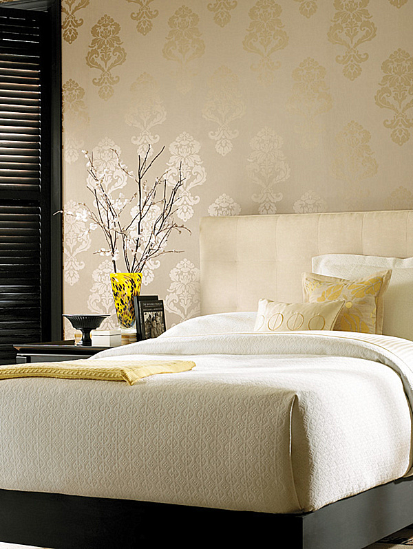 Wonderful Ideas For Wallpaper Design: Gold Damask Wallpaper