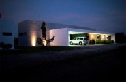 Wonderful Contemporary House Design In Single Story House : Good View In The Night At Casa Ponce Modern House