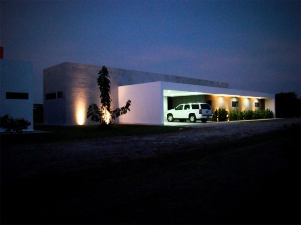 Wonderful Contemporary House Design In Single Story House: Good View In The Night At Casa Ponce Modern House ~ stevenwardhair.com Contemporary Home Design Inspiration