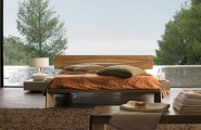 Elegant Touch Of Modern Bedroom Design : Gorgeous HORIZON Bed Design Showing Beautiful Outside View