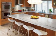 Historical Mid Century Design: History Of Formica Laminate Surfaces : Gorgeous Modern Kitchen With Varying Textures With Marble Countertop