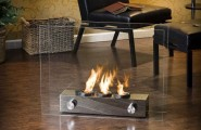 Practice Portable Fireplace For Your Activities : Gorgeous Modern Style Small Portable Fireplace Glasses Designed