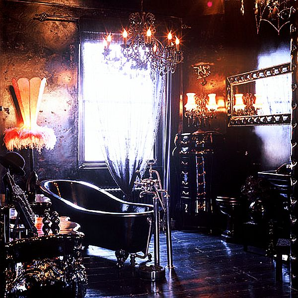 Extraordinary Gothic Home Decor For Visual Brave Personality: Gothic Inspired Bathroom Interior