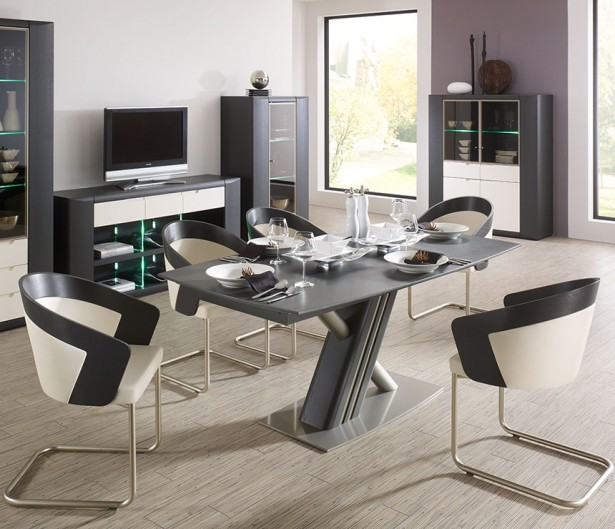 Varied Kitchen Table Sets For The House: Gray White House Interior Modern Kitchen Table Sets Design ~ stevenwardhair.com Kitchen Designs Inspiration