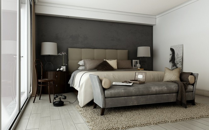 Smart And Playful Bedroom Style For Your Room: Grey Brown Taupe Sophisticated Bedroom