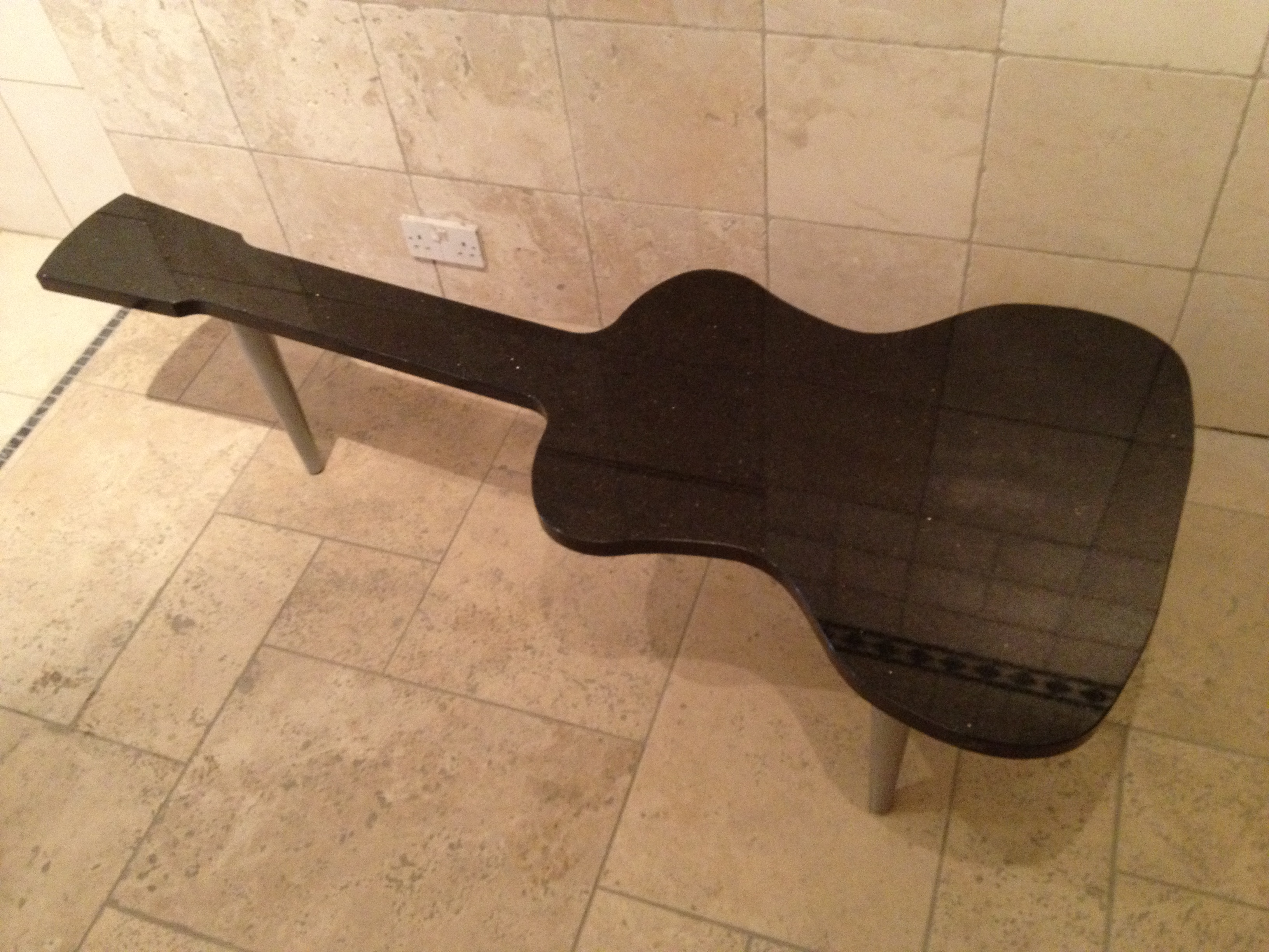 Coffee Table Designs: Guitar Shaped Granite Coffee Table