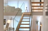 Simple White Interior Bring Calm Nuance To Your House : Half Floor Levels Of The Home