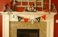 Fireplace Mantel Kits For Your House : Halloween Fireplace Mantel Kits Decorating Ideas Red Wallpaper