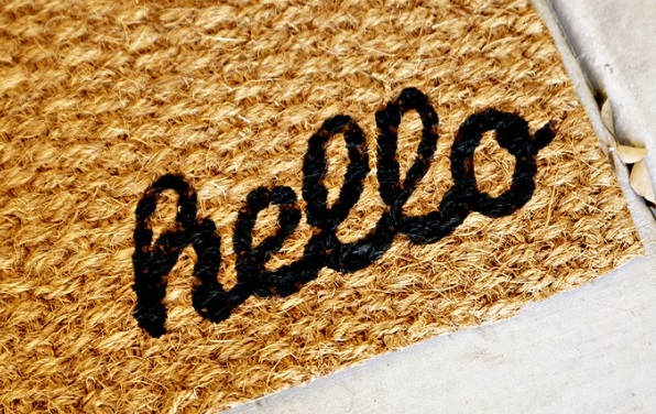 Amazing DIY Welcome Mats: Saying Hi Warmly: Hello Woven Welcome Mat